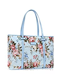 Lvtree 手提单肩包手提包 PU 皮顶部提手 女式 时尚 公文包 钱包 钱包 挎包 蓝玫瑰