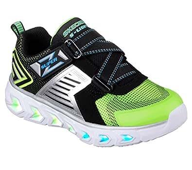 Skechers Hypno-Flash 2.0-90587L 儿童运动鞋 Lime/Black 2.5 M US Little Kid