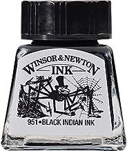 Winsor & Newton 绘画墨水瓶 黑色印度 14-ml Bottle 100