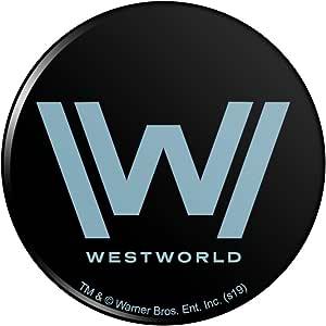 "Westworld 标志厨房冰箱储物柜按钮磁铁 多种颜色 3"" Diameter MAGBACK.300.WBGAM089.Z004888_8"