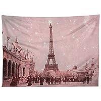 Deny Designs Bianca *星尘覆盖复古巴黎挂毯,152.4 厘米 X 203.2 厘米,粉色
