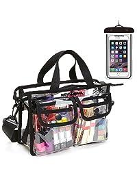 透明洗漱包,NEWANIMA 透明旅行化妆包化妆包和洗漱用品收纳包带防水盒