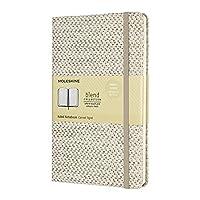 Moleskine 8053853600103 笔记本 – 混合系列 大号 / A5,横线,固定织物封面 米色
