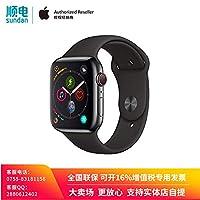 Apple Watch Series 4 MTVU2CH/A 智能手表(GPS+蜂窝网络款 44毫米 深空灰色铝金属表壳 黑色运动型表带)官方授权 全新国行 顺丰发货 含税带票 可开16% 专票