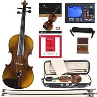 Cecilio CVN-600 手油摩擦高火焰 1 件后背實木小提琴帶 D'Addario Prelude 弦,尺寸 4/4(全尺寸)