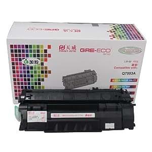 PRINT-RITE 天威 Q7553A 黑色硒鼓(适用 HP LaserJet P2010/P2015/P2014/P2015D/ P2015N/P2015DN/M2727nf MFP;CANON LBP3310/3370)(净含量140g)(亚马逊自营商品, 由供应商配送)