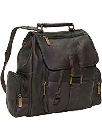 David King & Co. Mid Size Top Handle Backpack Cafe 均码