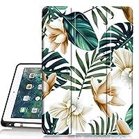 PIXIU ipad * 6 代保护套带铅笔架,全身保护对开皮革智能保护套带唤醒/休眠功能,适用于 iPad 9.7 英寸 2017/2018 发布/iPad air 2/ipad air
