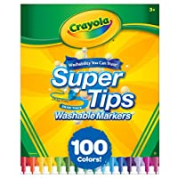 Crayola Super Tips Washable Markers-100/Pkg