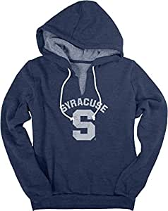 NCAA 雪城橙色女式传统羊毛 V 型凹口连帽衫,XL 码,*蓝
