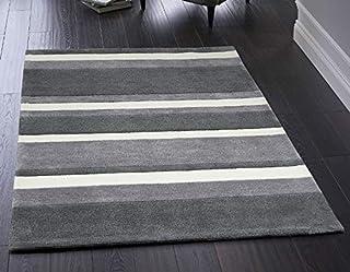 Rugs Direct Origin 波士顿条纹灰色地毯 灰色 120 x 170 PHXBOS120X170CHA