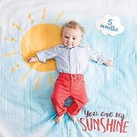 Lulujo 婴儿襁褓带 14 个月婴儿卡片用于照片和捕捉宝宝*年的*步 You Are My Sunshine