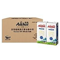 Anchor 安佳 新西兰原装进口全脂牛奶 超高温灭菌UHT纯牛奶1L×12整箱装 (新老包装随机发货)