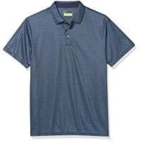 PGA TOUR 高大男士短袖印花 Polo 衫