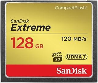 SanDisk SDCFXS-128G-X46 Extreme CompactFlash UDMA7 内存卡读取速度高达 120 MB/s 和 60 MB/s 写速度 - 128 GB