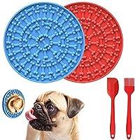 Gaishi 狗狗舔垫 花生黄油舔垫 狗狗沐浴分心器 宠物洗澡训练用 2垫+1个刮刀+1个刷子