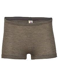 女士保暖内衣:吸湿排汗美利奴羊毛丝质男孩短裤 胡桃棕色 EU 42-44   Medium