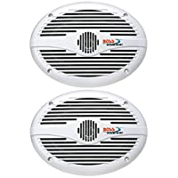 "BOSS AUDIO MR690 Marine 6"" x 9"" 2-way 350-watt Full Range Speakers 白色 350 watt max 6"" x 9"" 2-way"