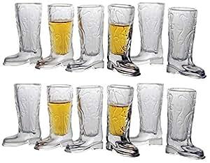 Circleware Kickback 威士忌玻璃酒杯趣味牛仔靴 Kickback - 12 pc.