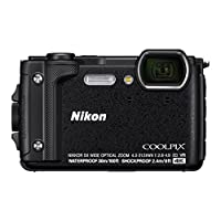 ' Nikon vqa070 K001 – 紧凑 W 300数码相机 (16 MP, LCD - 3, 视频4 K 全高清, 技术 AF 黑色 – Kit 假日带背包防水