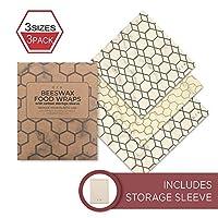 Beeswax Wraps 带储物袋 White, Grey, Gold