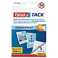 tesa 德莎 德国进口 TACK自粘型可调整衬垫 可重复使用 透明质地59401-00000