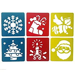 Mike Home 6 件混色绘画模板儿童版 Christmas decoration.