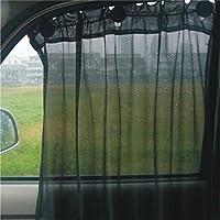 虹展 汽车遮阳帘 简易车窗窗帘 防晒隔热 汽车遮阳挡 吸盘式无缝安装 消弱紫外线 遮阳材质网布(通用车型) (2片装)(供应商直送)