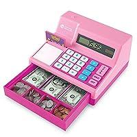 Learning Resources 扮演游戏计算器收银机,73件,粉红色