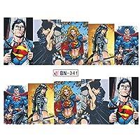 超人 - Clark Kent - 神奇女侠 - 超人和 Zatana *贴纸 - 水贴花美甲 美甲 包装*贴花