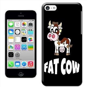 Fancy A Snuggle 'Fat Cow 趣味舒适硬质塑料手机壳 iPhone 5 °CSHL-IP5C-FU-29_B 后盖 iPhone 5C