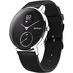 Withings Steel HR 金属表面智能心率追踪游泳来电提醒手表 黑面 36mm