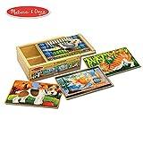 Melissa & Doug 宠物四合一拼图游戏 盒装(48块)