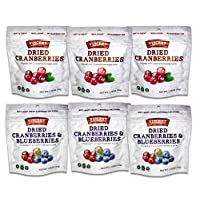 Vincent Family Dried Cranberries and Blueberries Mixed Pack, 1.5 Pound