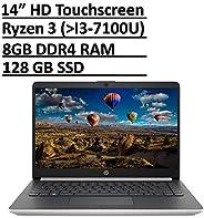 *新 HP 14 优质轻薄触屏笔记本电脑电脑 PC 14 英寸高清微边框显示屏 AMD Ryzen 3 3200U /Radeon Vega 3, 8GB RAM 128GB SSD USB-Type C HDMI RJ-45 WiFi 网络摄像头