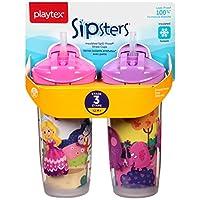 Playtex 扭扣吸管杯,9 盎司,2 只装 颜色可能有所不同。 9 盎司
