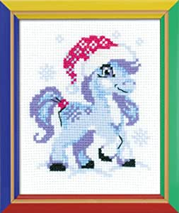 "Gentle Snow Counted Cross Stitch Kit-5.25""X6.5"" 10 Count"