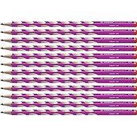 Stabilo EASYgraph S 修身三角形铅笔 适合右手 HB 硬度 12er Pack 粉色