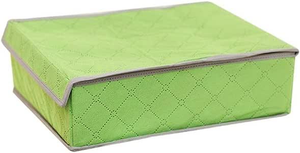 24 芯 非编织木炭竹纤维可折叠收纳盒内装袜 文胸系带 抽屉衣柜 家庭收纳箱 绿色 unknown