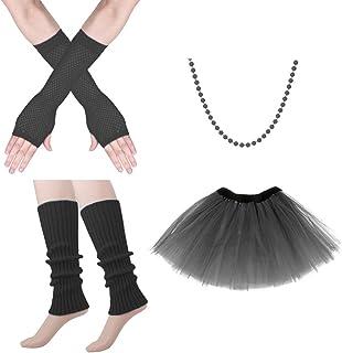 ZYXY 80 年代化妆服饰套装,手套串珠服装配饰