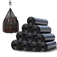达百万 馨友系列加厚垃圾袋卷装手提点断式家用厨房黑色环保清洁袋背心式塑料袋-黑色 (500只装/25卷)