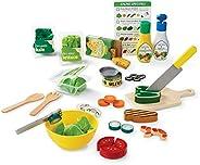 Melissa & Doug 切片&投掷 沙拉玩具 52个木制和