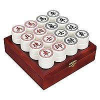 御圣-中国象棋套装-亚克力棋子-白色-木盒装-胶纸棋盘