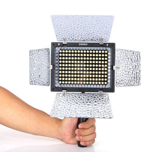 キヤノンニコンペンタックスカメラDVカメラ+リモコン用のコンデンサMICと永諾YN-160 II LEDビデオライト