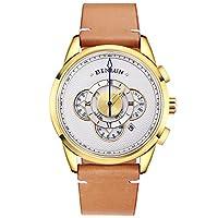 BINLUN analog 皮革 light brown BL0077G-LGWC-AQ watches