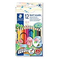 Staedtler 施德楼 12色可擦彩色铅笔(含橡皮头) 144 50NC12