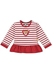 Steiff 女婴带甜美泰迪熊图案运动衫