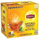 Lipton K-Cup Black tea K-Cup Natural Energy 18 ct, pack of 4