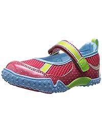 Tsukihoshi Child 45 Mary Jane Sneaker (Toddler/Little Kid), Coral/Light Blue, 11 M US Little Kid