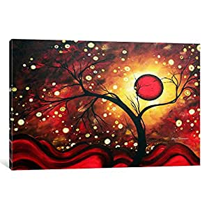 iCanvasART MDN17 Glowing Orb by Megan Duncanson Canvas Print, 18 by 12-Inch, 1.5-Inch Deep